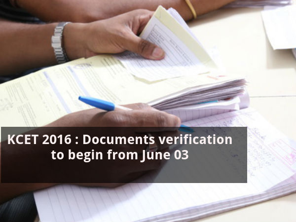 KCET 2016 : Document verification