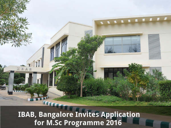 IBAB, Bangalore invites application for M.Sc