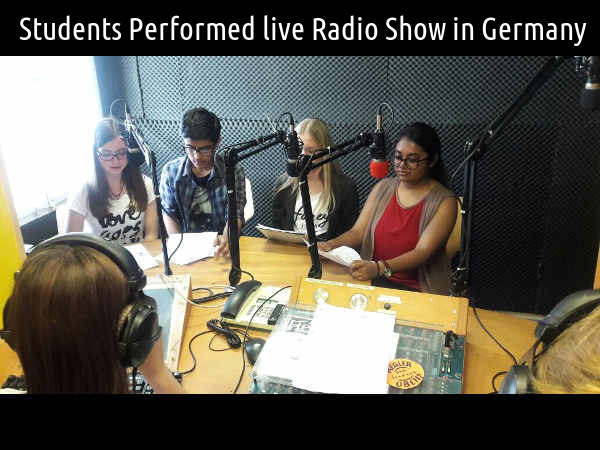 Students Perform Live Radio Show in Germany