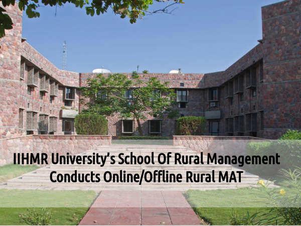 IIHMR University Conducts Online/Offline RuralMAT