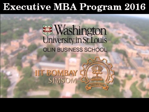 Executive MBA program from IIT Bombay-WUStL