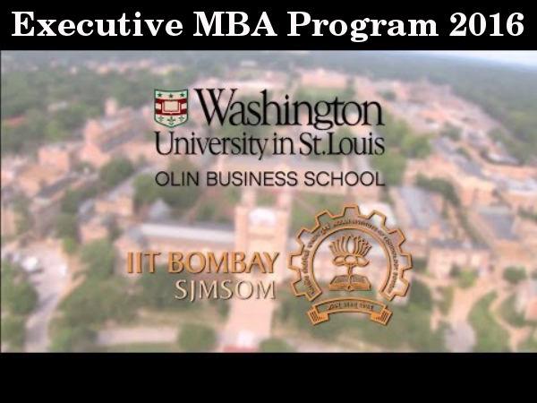 Executive MBA program from IIT Bombay-WUStL