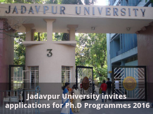 Jadavpur University invites applications for Ph.D