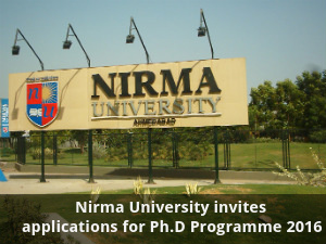 Nirma University opens admissions for Ph.D