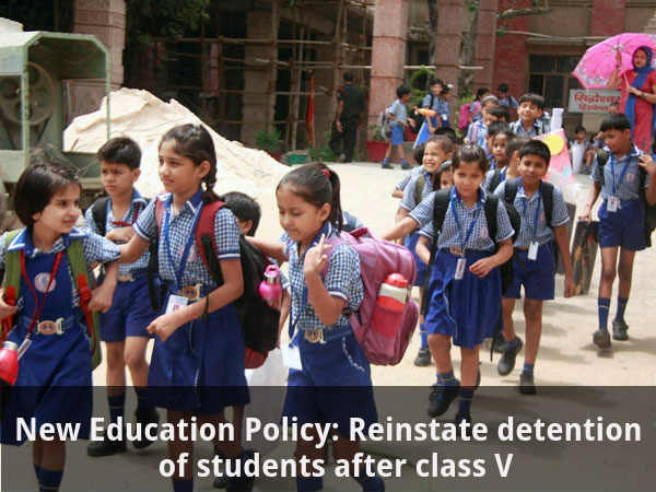 Reinstate detention of students after class V