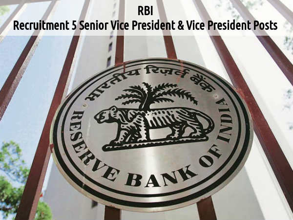 RBI is Hiring for 5 posts 2016