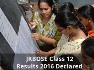 JKBOSE Class 12 Results 2016 Declared