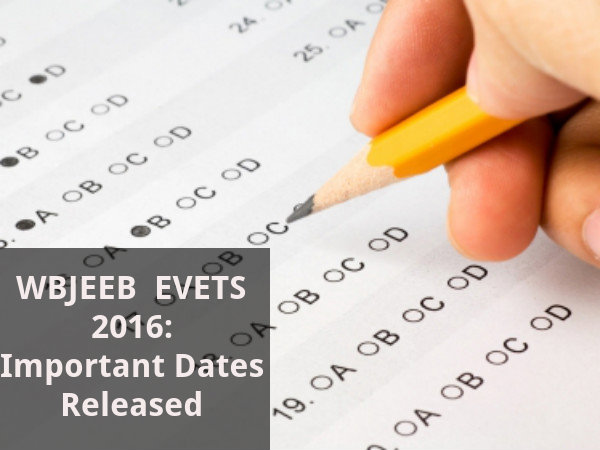 WBJEEB  EVETS 2016: Important Dates Released