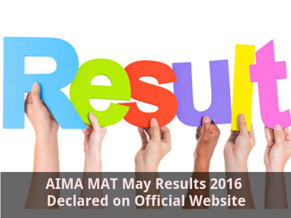MAT May 2016 Results Declared