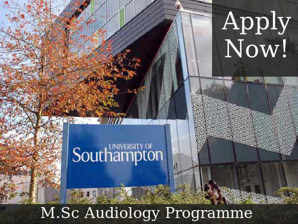 University of Southampton Offers M.Sc (Audiology)