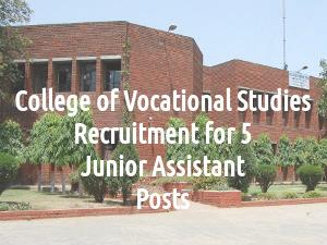 College of Vocational Studies Recruitment 2016
