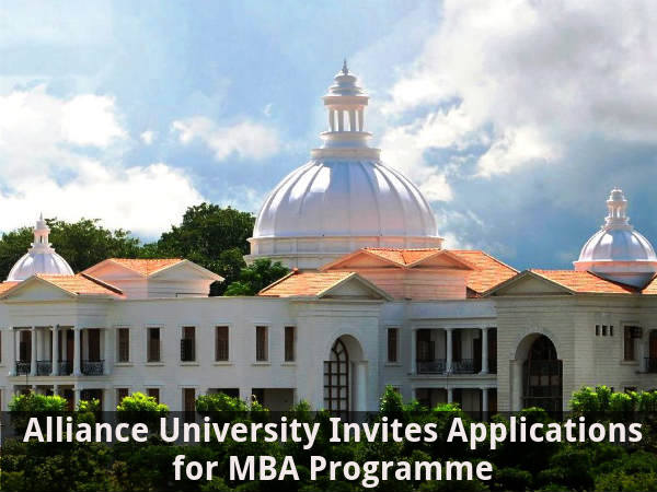 Alliance University: Apply for MBA Programme