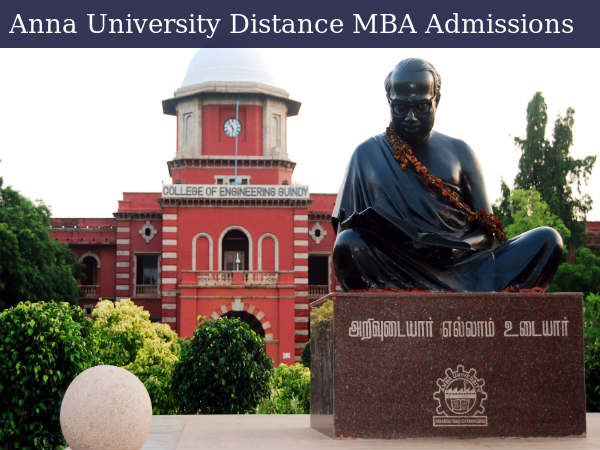 Anna University Offers Distance MBA Admissions