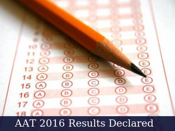 Architecture Aptitude Test - AAT 2016: Results