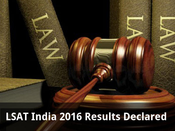 LSAT India 2016 Results Declared
