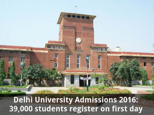DU Admissions: 39 K students register on day 1