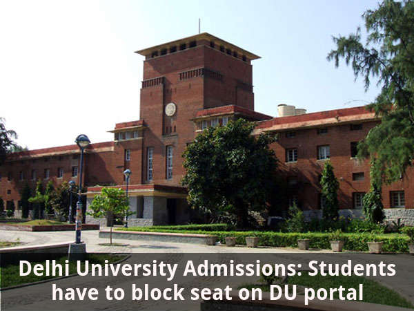 DU Admissions: Students can't block seats