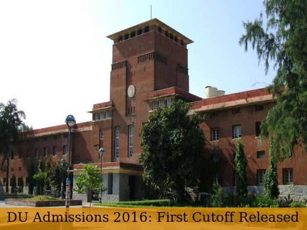 Delhi University Admissions 2016: First Cut-off