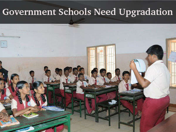 Government schools need to upgrade themselves