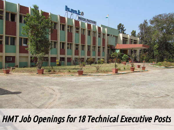 HMT Recruitment for 18 Technical Executive Posts