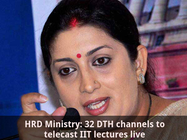 HRD: 32 DTH channels to telecast IIT lectures live