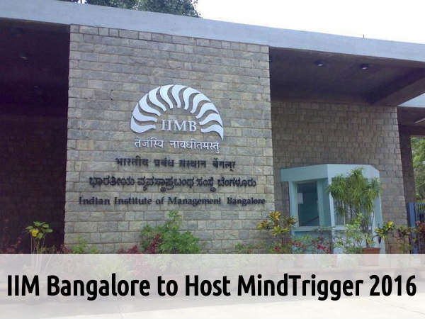 IIM Bangalore to Host MindTrigger 2016