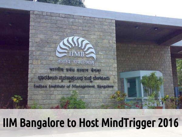 IIM Bangalore to Host MindTrigger 2016