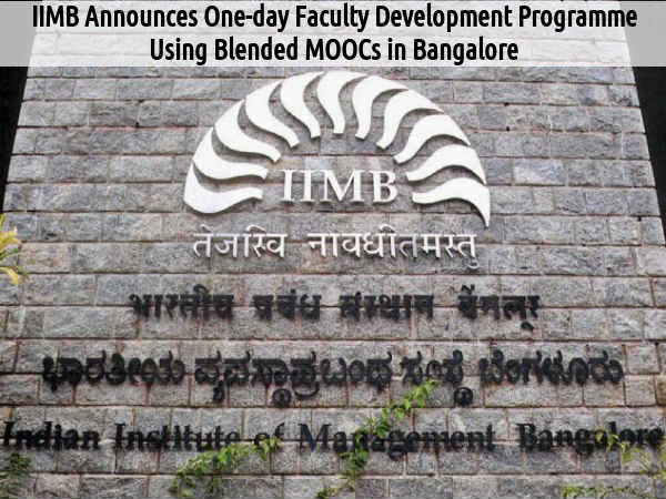 IIMB to Hold One-Day Faculty Development Programme