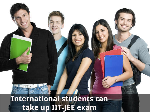 International students can take up JEE