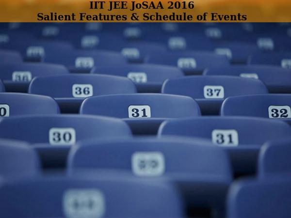 IIT JEE JoSAA 2016: Salient Features & Schedule