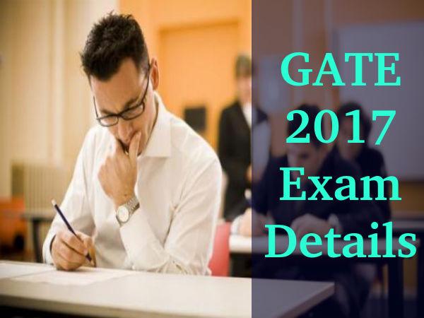 GATE 2017 Exam Details