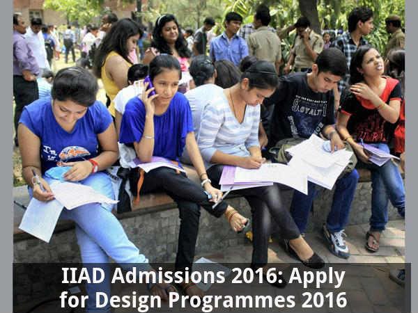 IIAD Admissions 2016: Apply for Design Programmes