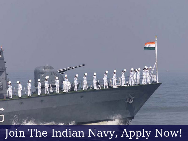 Join the Indian Navy, Applications Invited