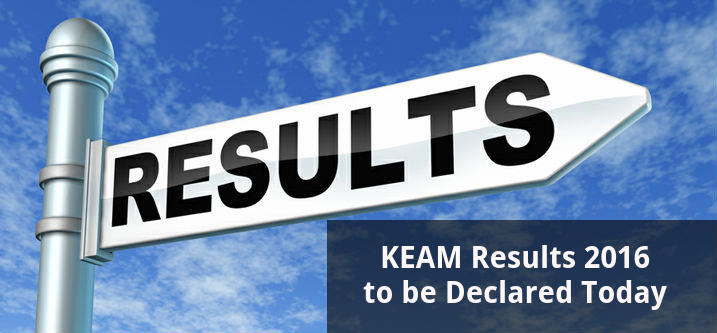 KEAM Results 2016 to be Declared Today