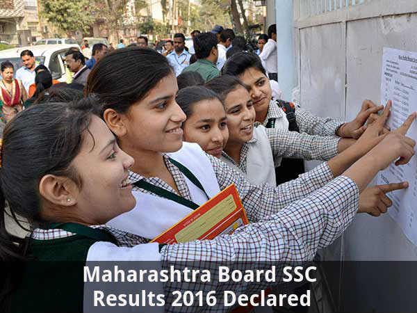 Maharashtra Board SSC Results 2016 Declared