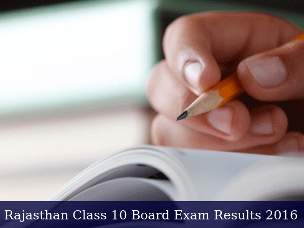 Rajasthan Class 10 Board Exam Results 2016