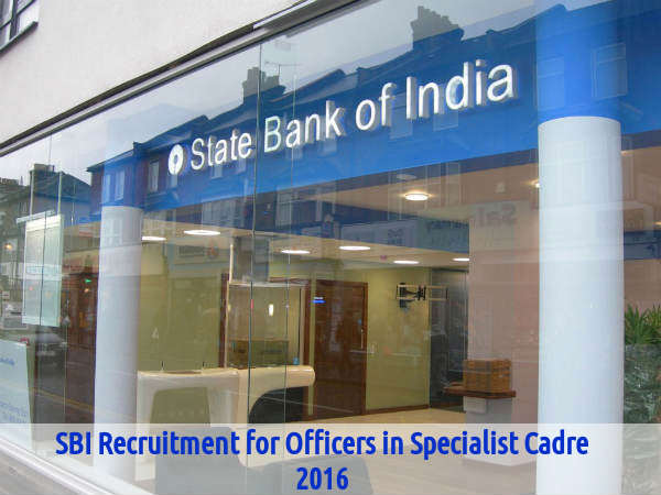 SBI Recruits 19 Officers in Specialist Cadre