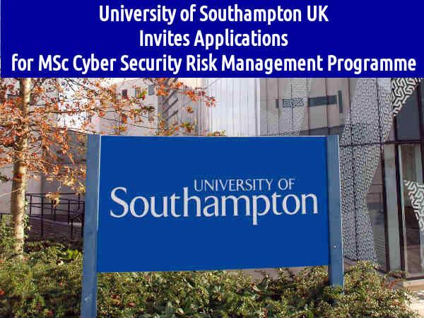 Univ of Southampton UK Invites Applications