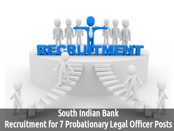 South Indian Bank is Hiring for 7 Posts 2016