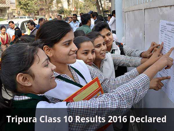 Tripura Board Class 10 Results Declared
