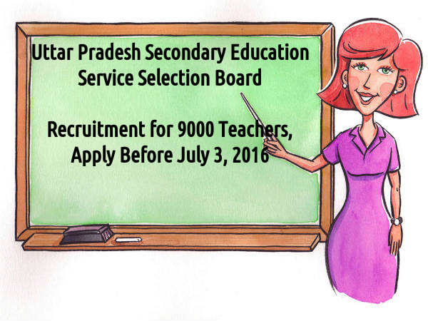UPSESSB Recruitment for 9294 Teachers 2016
