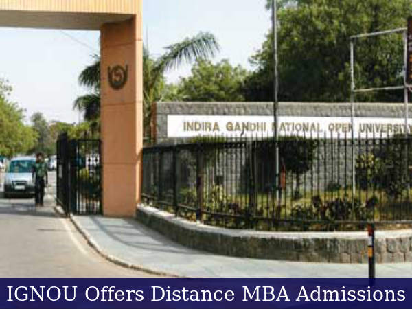Distance Management Programmes Offered By IGNOU