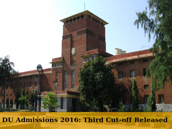 DU Admissions 2016: Third Cut-off Released