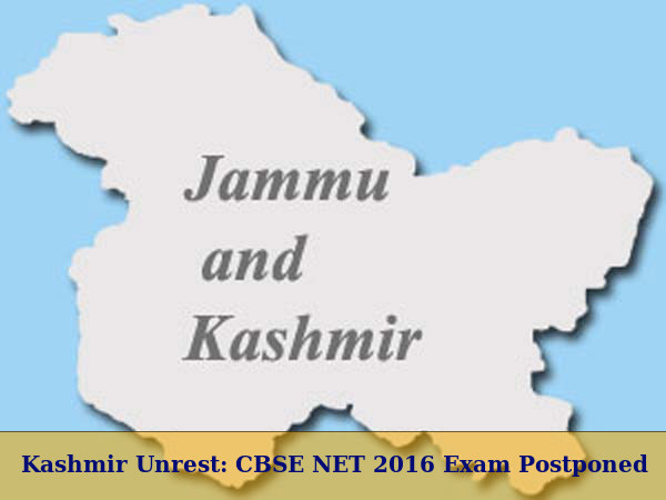 Kashmir Unrest: CBSE NET 2016 Exam Postponed