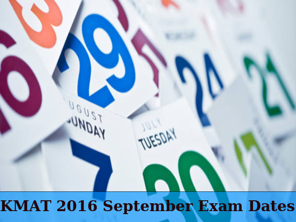 KMAT September 2016: Exam Dates