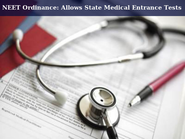 States Allowed To Conduct Medical Entrance Tests
