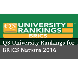 QS World University Ranking list for BRICS nations