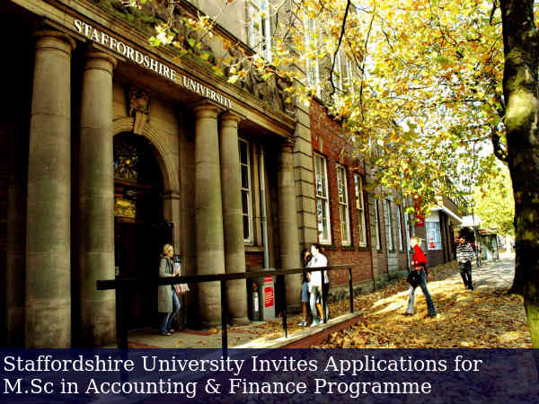Staffordshire University Offers M.Sc Admissions