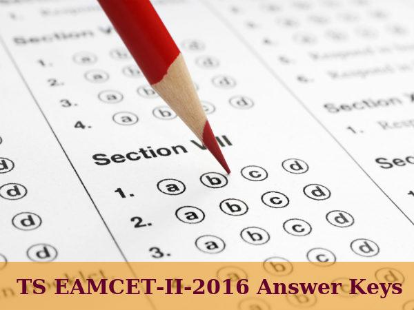 TS EAMCET-II-2016: Answer Keys Released
