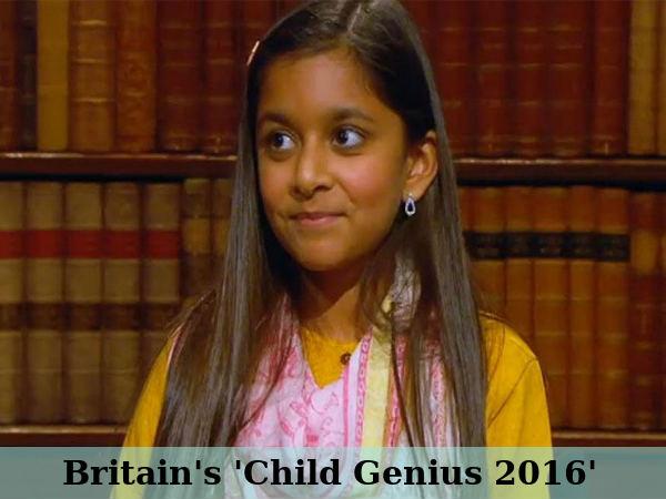 Britain's 'Child Genius 2016'